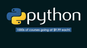 pytho courses for udemy $9.99 sale